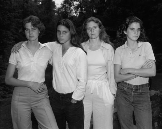 The Brown Sisters, New Canaan, Connecticut, 1975, gelatin-silver contact print