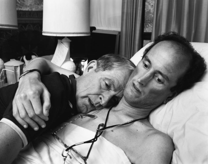 Dr. Robert Sappenfield with his son Bob, Dorchester, Massachusetts , 1988, gelatin-silver contact print