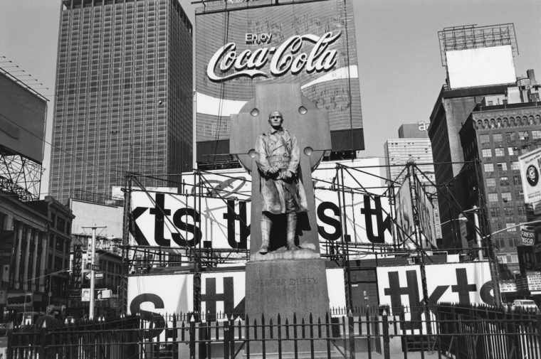Father Duffy, Times Square, New York, New York, 1974, gelatin-silver print