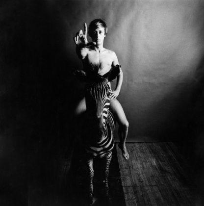 Paul Thek, Nude, Astride Zebra, 1965