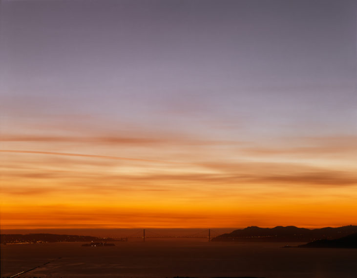 Golden Gate Bridge, 12.14.99, 5:29 pm, 1999, pigment print