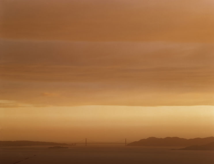 Golden Gate Bridge, 5.1.98, 7:50 pm, 1998, pigment print