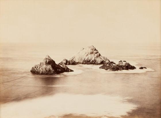 Seal Rocks, Cliff House, San Francisco, ca. 1868, mammoth-plate albumen print