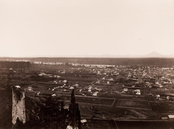 City of Portland, Willamette River, 1867, mammoth-plate albumen print