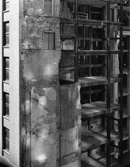 View of Filene's Demolition, Boston, 2009, gelatin-silver contact print