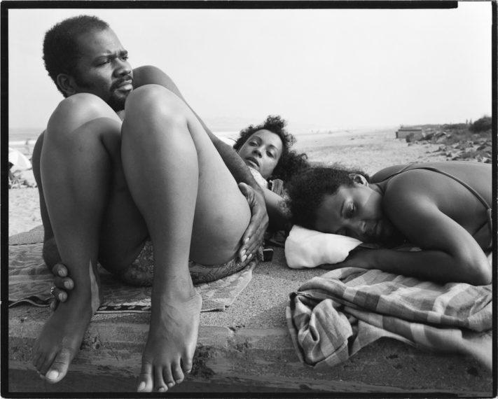 Nahant Beach, Lynn, Massachusetts, 1979, gelatin-silver contact print