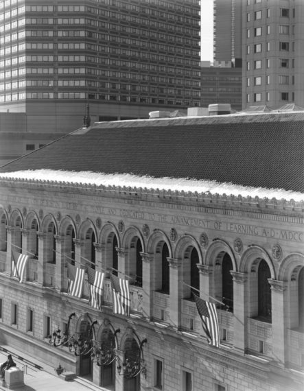 View of Boston Public Library, 2009, gelatin-silver contact print