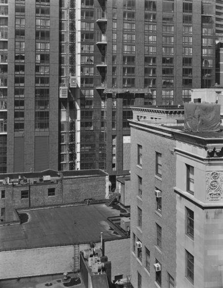 NICHOLAS NIXON, View of Temple Place, Boston, 2008, gelatin-silver contact print