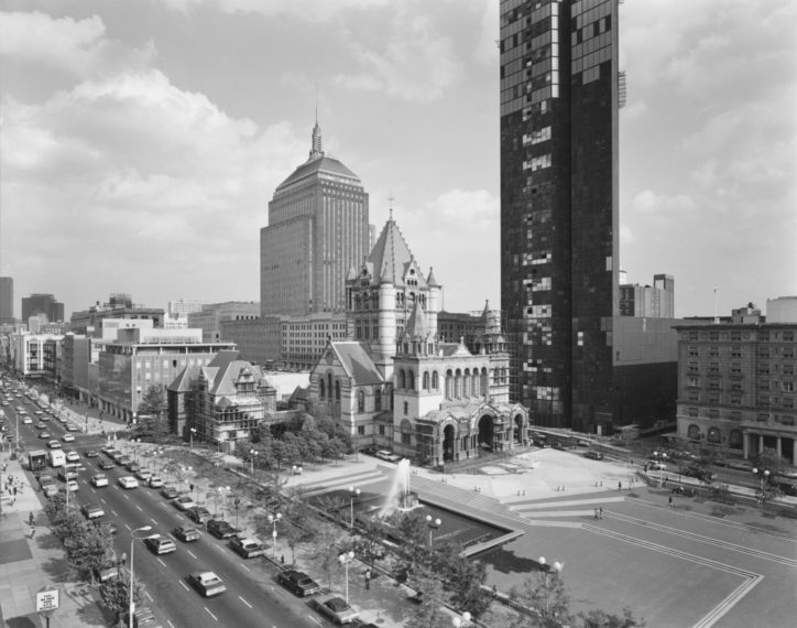 View of Copley Square, Boston, 1974, gelatin-silver contact print