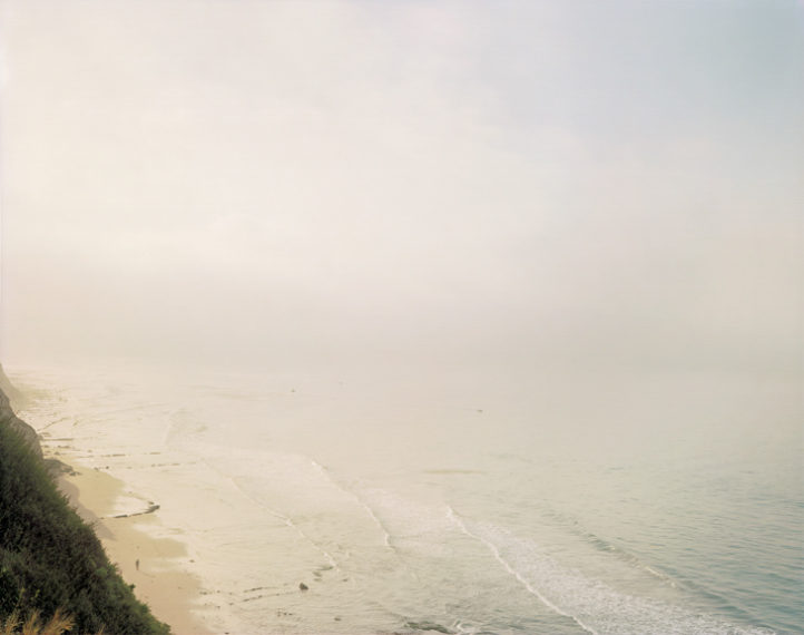 Man on Beach (Looking South), Santa Barbara, 1984, pigment print