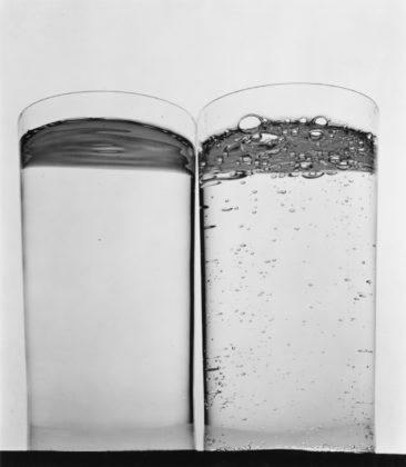Two Glasses of Water (B), New York, 1970, gelatin-silver print