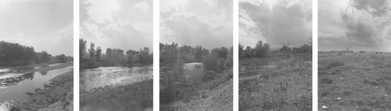 Along St. Vrain Creek. West of Longmont, Colorado, 1986, five gelatin-silver prints