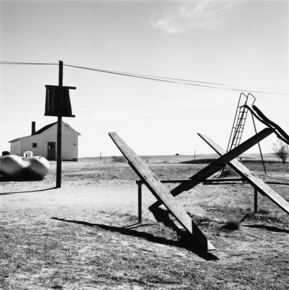 Schoolyard, Ramah, Colorado, 1968, gelatin-silver print