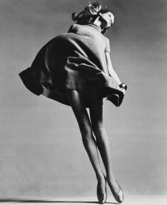 Richard Avedon, Veruschka, Dress by Bill Blass, New York Studio, January 4, 1967, gelatin-silver print