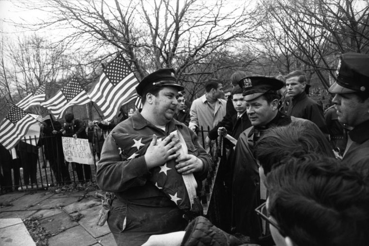 Peace Demonstration, Central Park, New York, 1969, gelatin-silver print