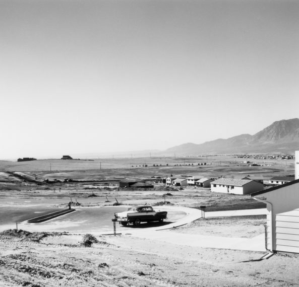 Newly occupied tract houses. Colorado Springs, Colorado, 1968, gelatin-silver print