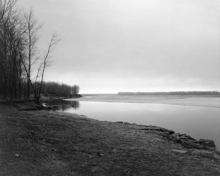 Missouri River. Clay County, South Dakota, 1977, gelatin-silver print