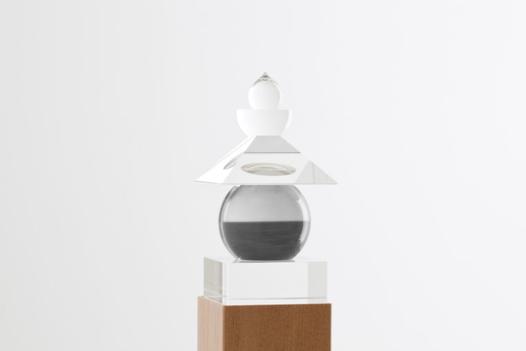 Five Elements, 2011,  Tasman Sea, Ngarupupu, 1990, optically clear glass, black and white film, housed in a wooden box