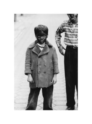 Kid in black-face with friend, N.Y.C. 1957