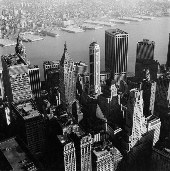 From the World Trade Center: The East River , 1976, gelatin-silver print