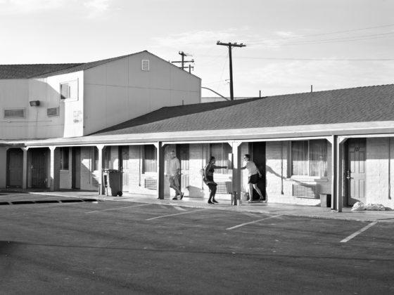 Katy Grannan, Kiki Pays Debt, Room 123, Travelers Motel, Modesto, CA, 2013