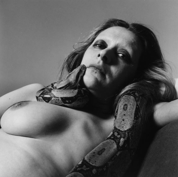 Sarah Jenkins with Skippy (II), 1985, gelatin-silver print