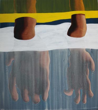 Sanitizing sanity, 2013, acrylic on wood panel