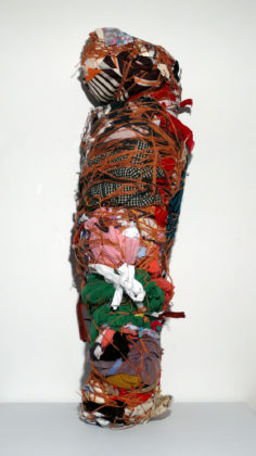 Untitled (Wrapped figure form), 1992, mixed media