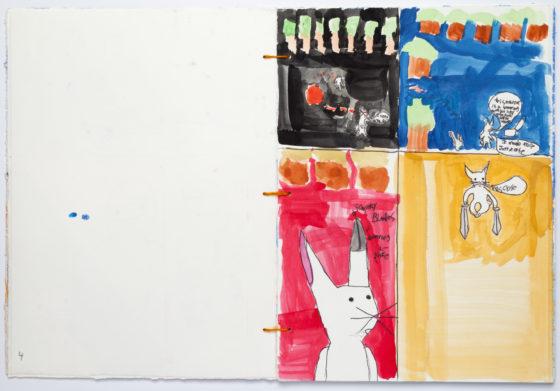 "Ray Vickers, ""Newcha's Revenge Against Bunnies Bunny Revenger"", detail, 2014"