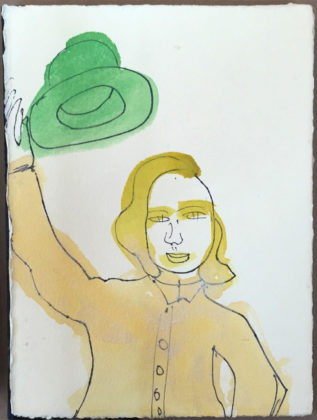 Untitled (Book of portraits), 2015, artist book, ink and watercolor on paper