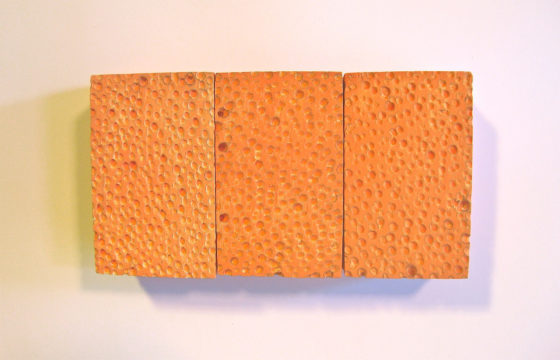 George Stoll, Untitled sponge painting (orange nine pack)