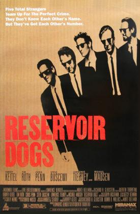 Reservoir Dogs, Dir. Quentin Tarantino. Perf. Harvey Keitel, Tim Roth, Michael Madsen, Chris Penn, and Steve Buscemi.  Miramax Films, 1992. Film poster.