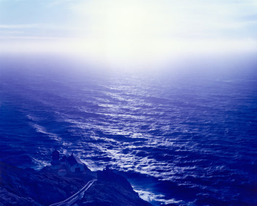 Above Abyss Blue Blow, Point Reyes, California, Traditional color darkroom photograph