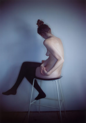 Richard Learoyd, Lucie with stockings, 2016, camera obscura Ilfochrome photograph