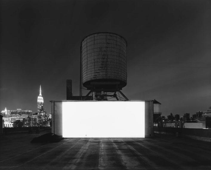 Wolf Building Rooftop, New York, 2015, gelatin-silver print