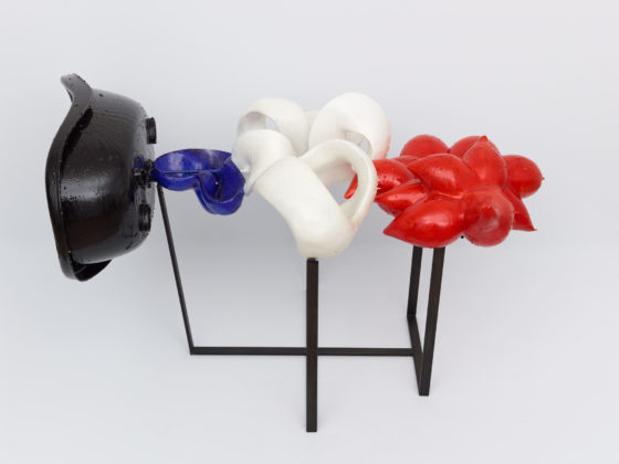 Jean-Luc Moulène, Noir et tricolore (Paris, 2015), 2015, Plaster, plastic, foam, steel, dyes, epoxy resin