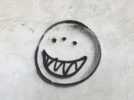 Sinister smiley face, Hinkley, California, 2017