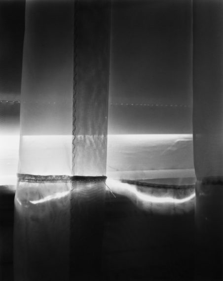 NICHOLAS NIXON, Our bedroom curtain, Brookline, 2017, gelatin-silver print