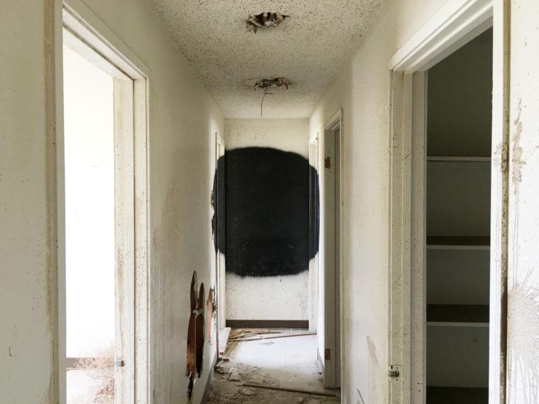 Black blob, Victorville, California, 2017