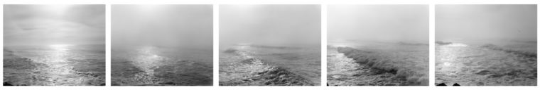 Southwest from the South Jetty,